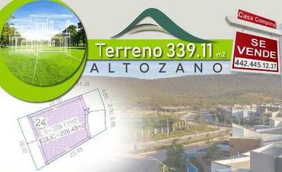 Se Vende Terreno En Altozano De 339.11 M2, Para Hacer Tu Nuevo Hogar.-