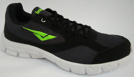 Tênis Bouts Chumbo Verde Leve Confortável Para Caminhada