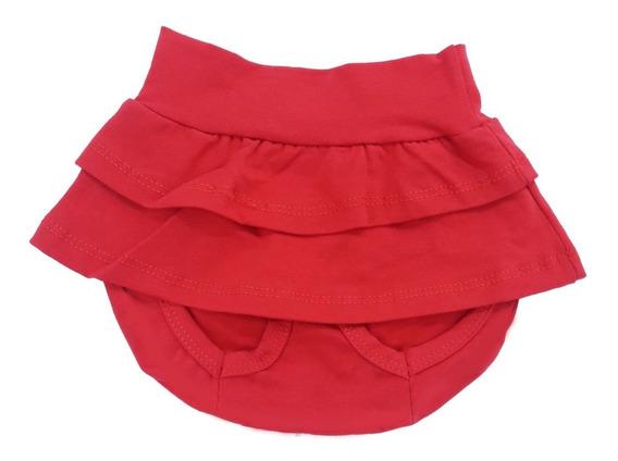 Saia Shorts Roupa Bebê Vermelho 100% Algodão Perfeito!
