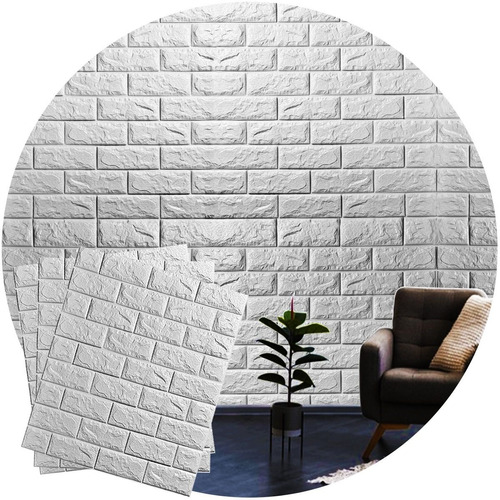 Imagem 1 de 6 de Kit 10 Adesivo Parede 3d Papel Parede Tijolo  Casa Decorar