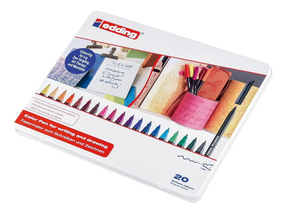 Marcador Para Papel Edding 1200 Set 20 Colores