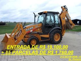 Retroescavadeira Case 580 Super N, 2014, Cabinada, Novissima
