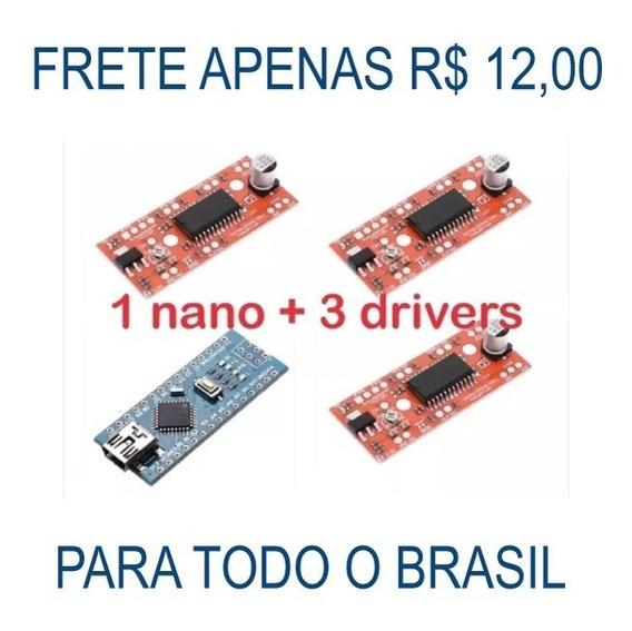 3 Easydriver A3967 + 1 Arduino Nano (impressora 3d / Cnc)