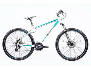 Bicicleta Motomel R27.5 Mtb Maxam 375 Aluminio Bl Y Turquesa