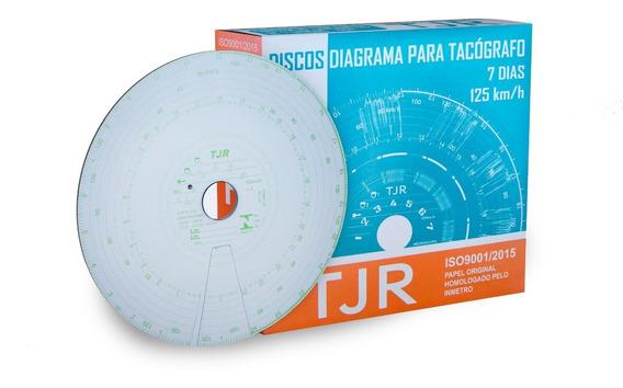 Disco Para Tacógrafo 7 Dias Tjr - 60 Caixas Com 10 Discos