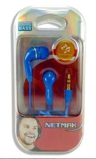 Auricular In Ear -mp3 3.5mm Azul/negro/blanco/rojo - Aj Hoga