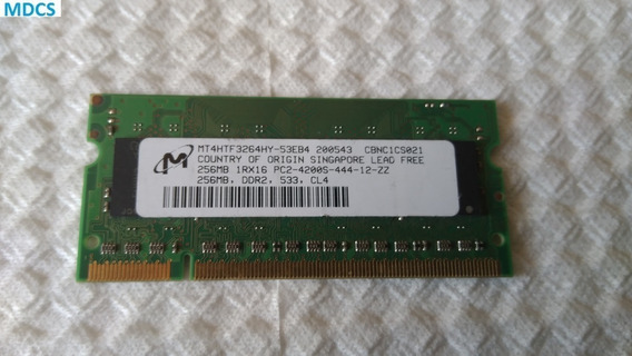 429 - Memória Ddr2 Mt Pc2-4200s 444 256mb - Semi-nova