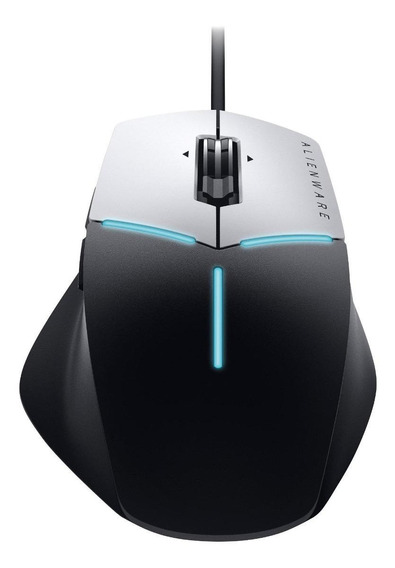 Mouse para jogo Alienware AW558 Advanced preto e prata