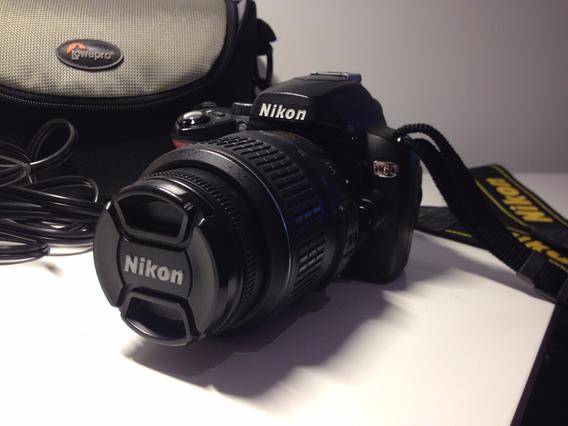 Camera Nikon D60 (corpo+lente+carregador+memory Card+case)