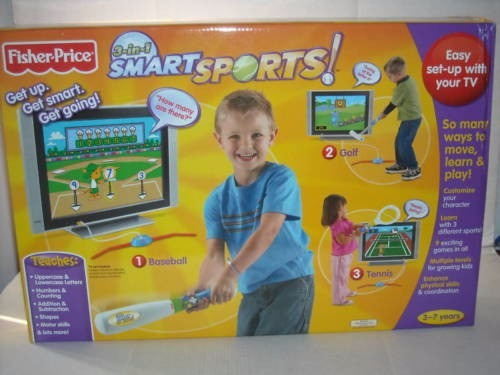 Smart Sports Fisher Price Golf Beisbol Tenis 3 En 1 Trabucle