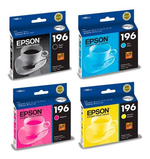Cartucho Original Epson T196 196 Packx4 Xp401 Wf2512 C+m+y+k