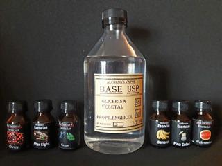 Base Glicerina Vegetal Propilenglicol 1/2kg+ 4aromas Premium