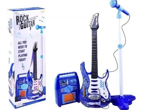 Guitarra + Micrófono + Parlante Rock And Roll Juguete Rosada