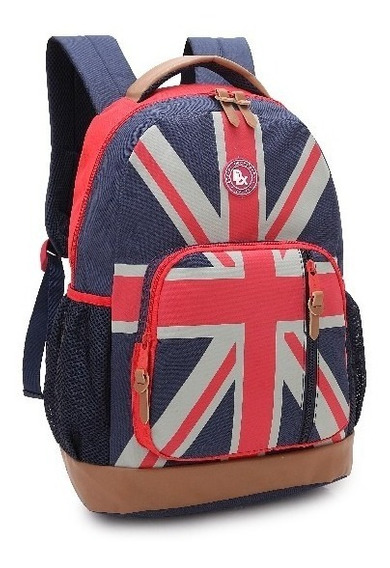Mochila Feminina Bandeiras Eua Ou Inglaterra - Denlex Dl0395