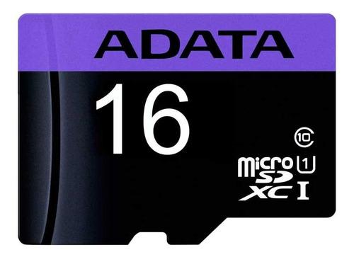 Imagen 1 de 1 de Tarjeta de memoria Adata AUSDH16GUICL10-RA1  Premier con adaptador SD 16GB