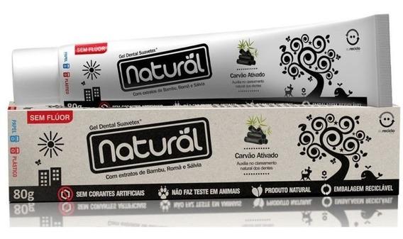 Creme Dental Natural Suavetex Com Carvão Ativado - Oferta