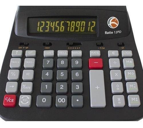 Calculadora De Mesa Termica Ratio 12pd 12 Digitos 110v/220v