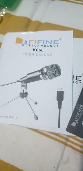 Microfone Condensador Fifine K668 Na Caixa Importado
