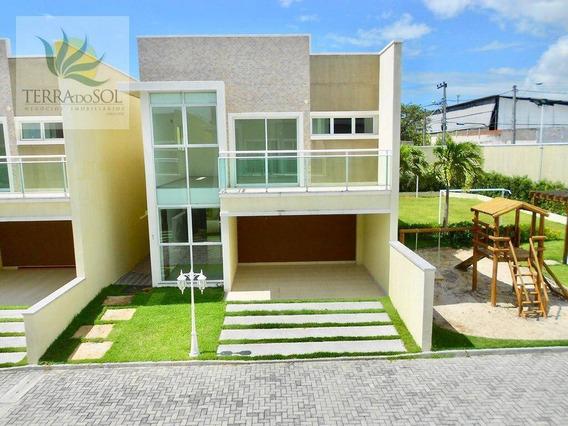 Casa Duplex Nova Em Condomínio Fechado Na Lagoa Redonda - Ca0780