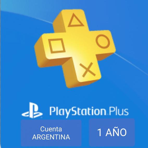 Código Playstation Plus Argentina - Ps4 - Membresia 1 Año -entrega Inmediata- Nº 1 En Venta De Códigos Cuenta Argentina
