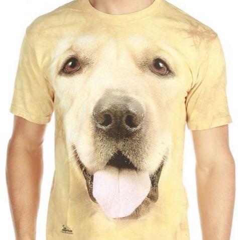 Polo Golden Retriever Cachorro Estampado Realista