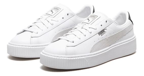 Tênis Puma Basket Platfom Original White Importado