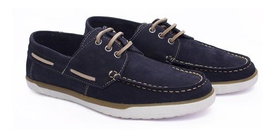 Sapato Casual Estilo 100% Couro Homem Moderno Gts Azul