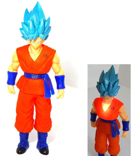 Dragon Ball Super Figura Goku Sayayin Dios Blue Luz Led 27cm