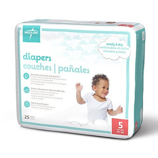 Medline Mbd2005z Pañales Para Bebés Tamaño 5 27 Lb Paquet