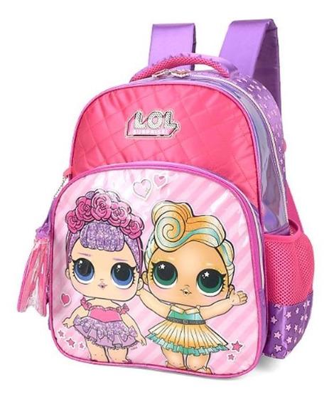 Mochila Escolar Lilas Infantil Lol Surprise Sem Frete 011619