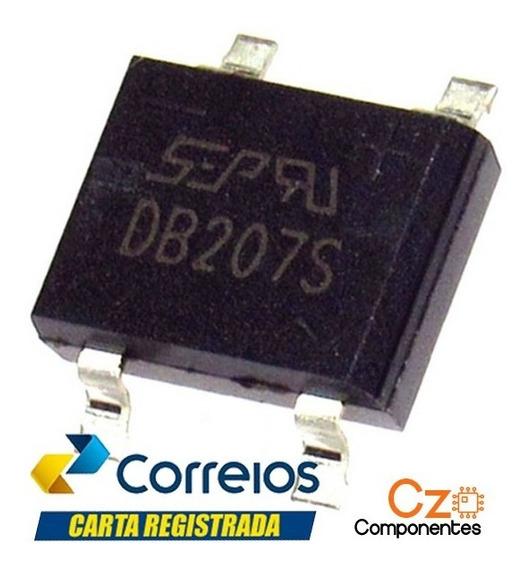5 Pçs Db207s Smd - Ponte Retificadora - 2a 1000v - Db207