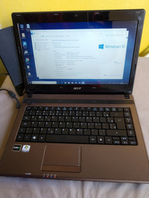 Notebook Acer 320gb Hd 4gb Memória Ddr3 Windows 10 Hdmi