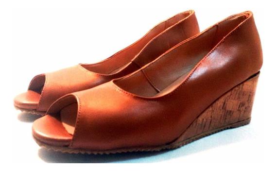 Sam123 Zapatos Taco Chino De Cuero Talles Grandes Pez Suela