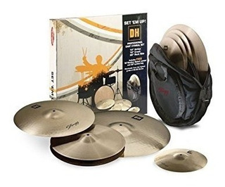 Set Platillos Stagg Dhset B -hihat 14 Crash 16 Ride 20 Funda