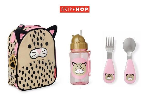 Lancheira Térmica + Garrafinha + Talher Leopardo Skip Hop ®