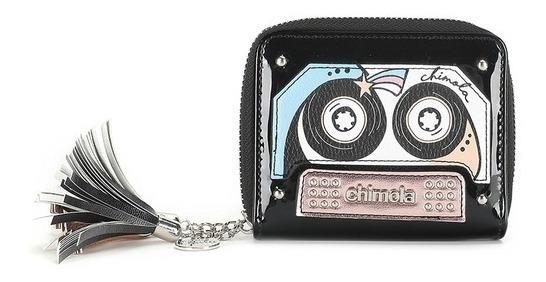 Billetera Cassettes Charol Tachas Chimola Fashion