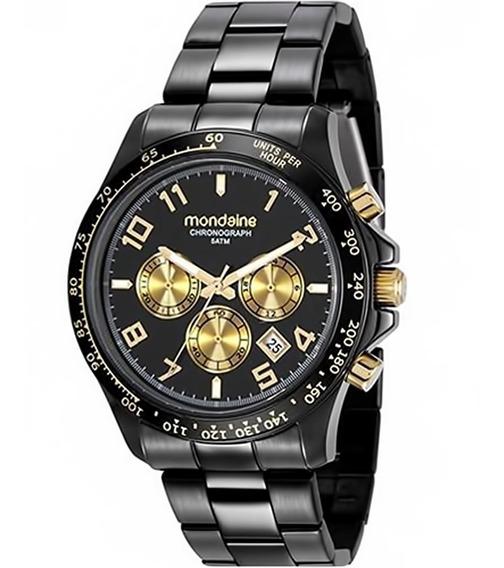 Relógio Feminino Mondaine 78754lpmvps2 Aço Negro