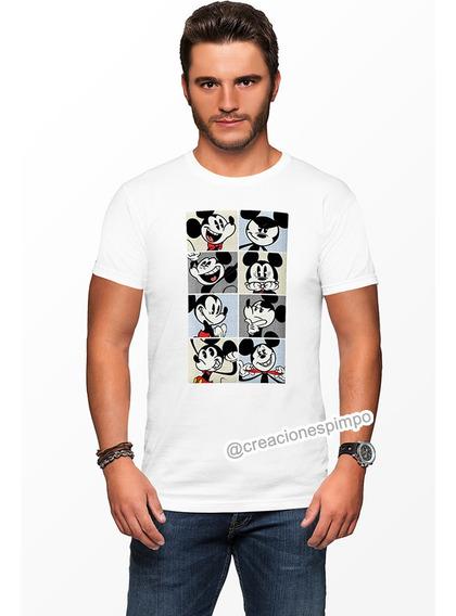 Camiseta Hombre Mickey Mouse Moda Lifestyle Poliester Cpr9
