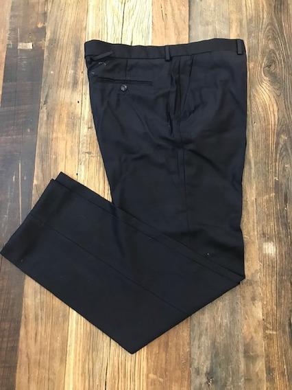 Pantalon Zara De Vestir Traje Hombre Negro