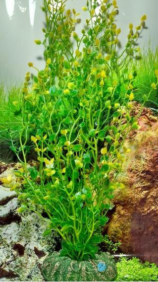 Planta Artificial Plástica Aquário Rorippa Aquática 40cm