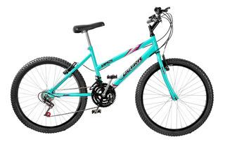 Bike Feminina 18 Marchas Aro 24 Verde Anis Ultra Bikes