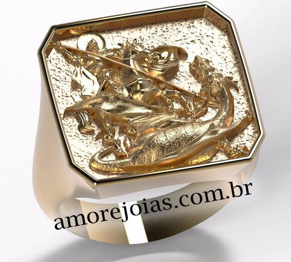Anel São Jorge - 3d Para Impressão