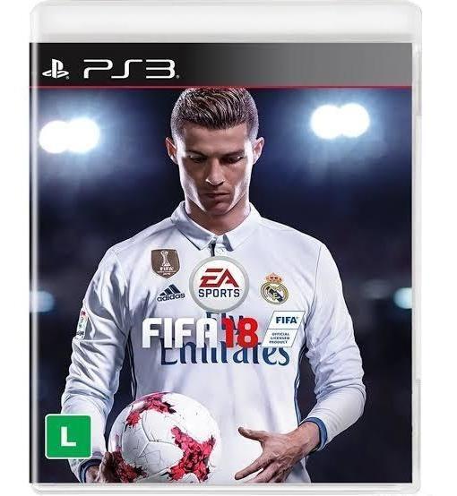 Fifa 18 Ps3 Original Midia Fisica Portugues Semi Novo 100%