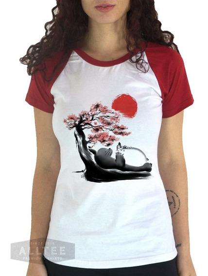 Camiseta Geek Totoro Chihiro Ghibli Studio Babylook Feminina