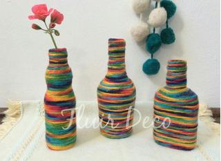 Souvenirs Originales Botellas X 3 Deco Floreros Centros Mesa