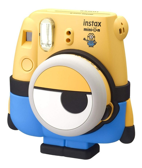 Kit Câmera Instax Mini 8 Minion Filme 20f+lente Brinde