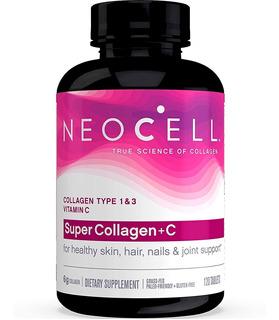 Super Colágeno Tipo 1 E 3 + Vit C 120 Tabs Neocell Eua