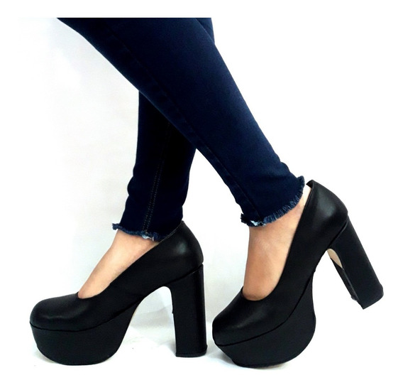 Sam123 Zapatos Stilettos Cuero Talles Grandes Taco Palo