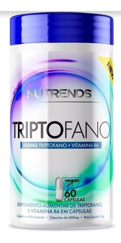 Imagem 1 de 5 de L Triptofano 500mg + B6 -percursor Serotonina 5htp- 60 Caps