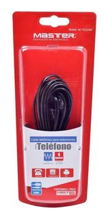 Cable Telefonico Master Mc-telex4bk (4 M, Negro) | 58740